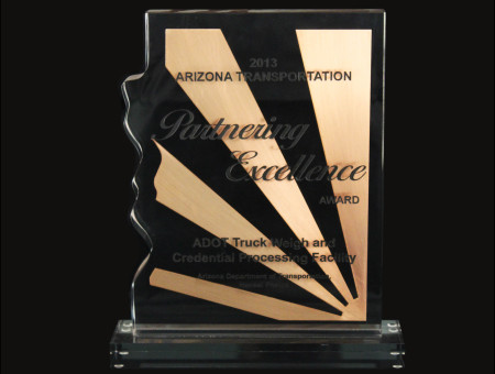 Partnering Excellence Award for ADOT Truck Weigh & Credential Processing Facility 2013