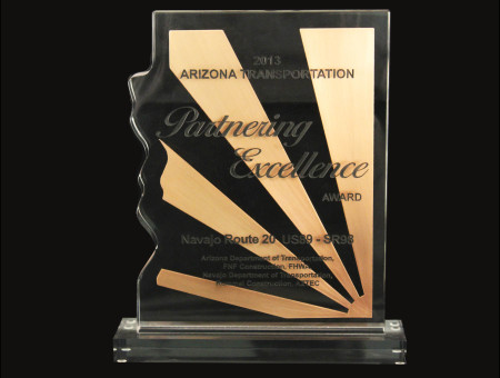 Partnering Excellence Award for Navajo Route N20 US89-SR98 CMAR 2013