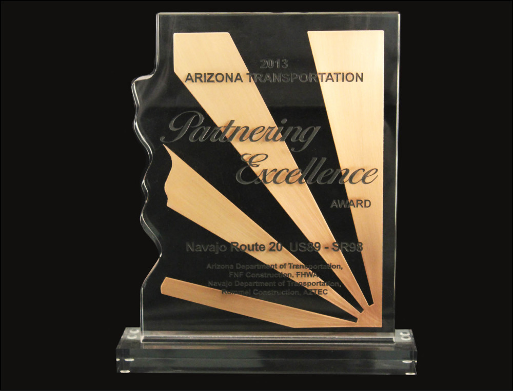 2012 AZ Transportation Partnering Excellence Award - Navajo Route 20