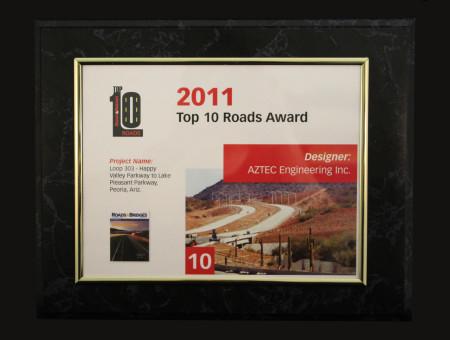 Top 10 Roads 2011-SR303L: Happy Valley Parkway to Lake Pleasant Parkway