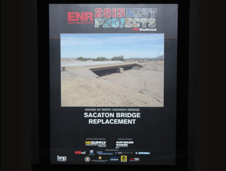 Best Projects 2014 – Sacaton Bridge Replacement in the Highways/Bridges Category 2015