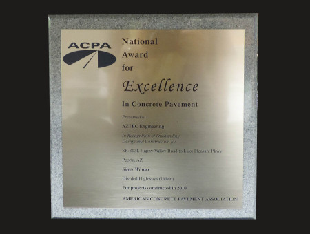 Excellence in Concrete Pavement 2010 SR303L: Happy Valley Parkway to Lake Pleasant Parkway