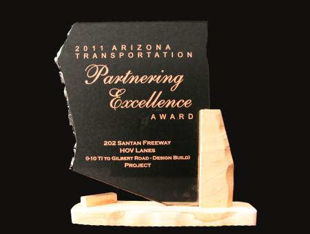 Partnering Excellence Award 2011-SR202L (San Tan Freeway) I-10 to Gilbert Road Design-Build
